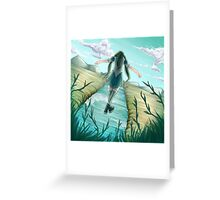 Across the Line Greeting Card