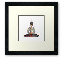 Coloured Brick Buddha Framed Print