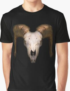 Scary Skull in the Darkness Graphic T-Shirt