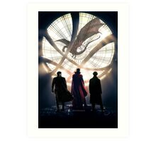 Benedict Cumberbatch 4 iconic characters by lichtblickpink Art Print