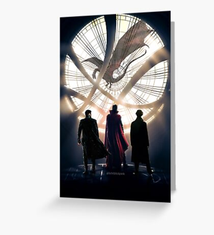 Benedict Cumberbatch 4 iconic characters by lichtblickpink Greeting Card