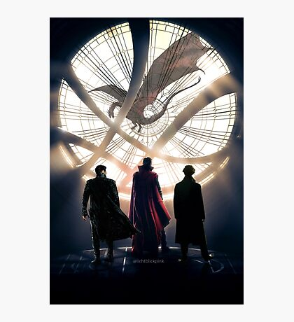 Benedict Cumberbatch 4 iconic characters by lichtblickpink Photographic Print