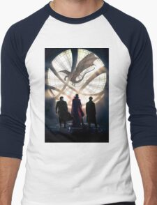Benedict Cumberbatch 4 iconic characters by lichtblickpink Men's Baseball ¾ T-Shirt