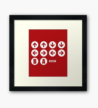 Game Cheat Code  Framed Print