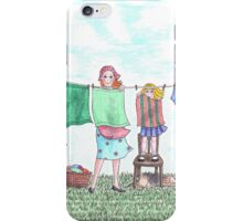 Laundry day iPhone Case/Skin