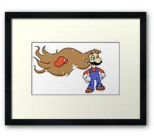 Mario with Glorious Hair Framed Print