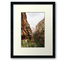 Angels Landing at Zion National Park Framed Print