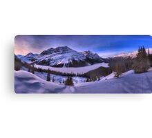 Peyto Lake Purple Sunset Panorama Canvas Print