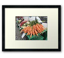 Vegetables for Sale Framed Print