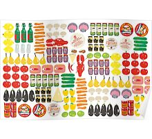 pattern with food Poster