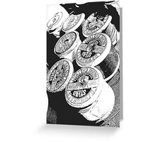 Vintage Cotton Reels Greeting Card