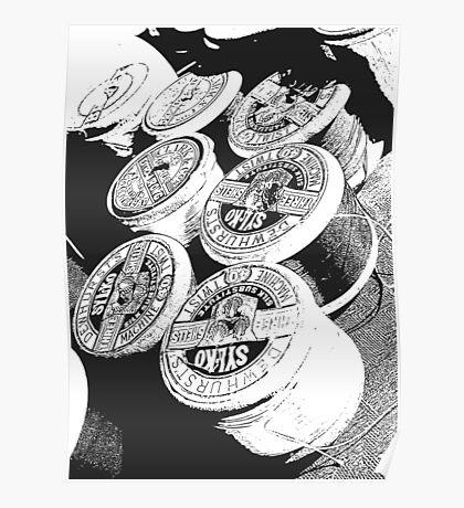 Vintage Cotton Reels Poster