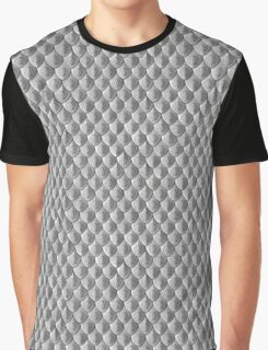 Rose Scale Armor - Silver Graphic T-Shirt