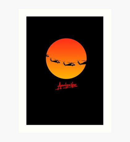 Apocalypse Now minimalist poster, t-shirt design 2 Art Print