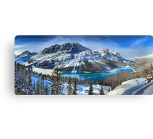 First Snow At Peyto Lake Metal Print