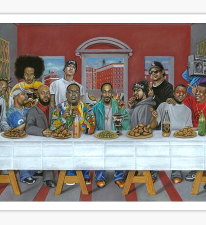 Last Supper of Hip Hop Sticker