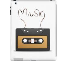 Audio tape retro music iPad Case/Skin