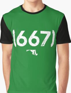 Area Code 667 Maryland Graphic T-Shirt
