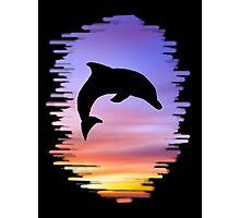 Sunset Dolphin Photographic Print