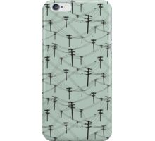 telephone lines pattern iPhone Case/Skin