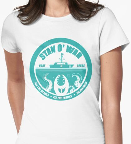 STAN O'WAR TOURS- Gravity Falls Womens Fitted T-Shirt