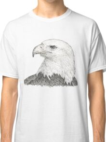 American Bald Eagle - black & white ink graphics Classic T-Shirt
