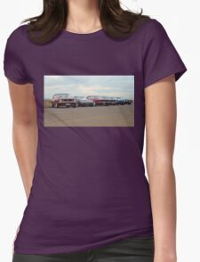 Line up of Muscle Womens Fitted T-Shirt