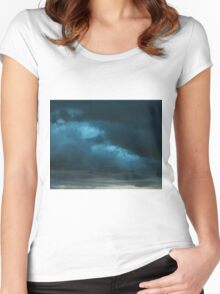 Storm Front~ Tryptic Image 1 Women's Fitted Scoop T-Shirt