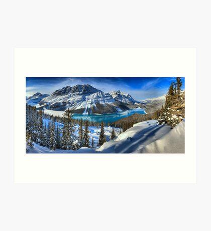 Peyto Lake Winter Paradise Art Print