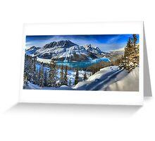 Peyto Lake Winter Paradise Greeting Card