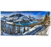 Peyto Lake Winter Paradise Poster