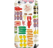 pattern with food iPhone Case/Skin