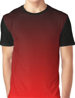 Black To Red Gradient Graphic T-Shirt