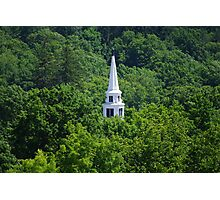 Church Steeple In The Green Photographic Print