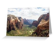 Angels Landing over Zion Valley Greeting Card