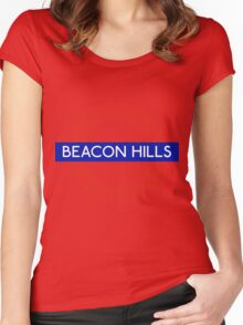 Fandom Tube- BEACON HILLS Women's Fitted Scoop T-Shirt
