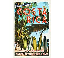 Surfing in Costa Rica isn't easy.  Photographic Print