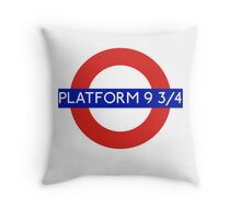 Fandom Tube- PLATFORM 9 3/4 Throw Pillow