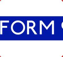 Fandom Tube- PLATFORM 9 3/4 Sticker