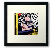 Girl Power: Black Cat Framed Print