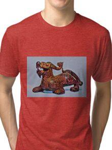 Psychedelic Dragon Tri-blend T-Shirt