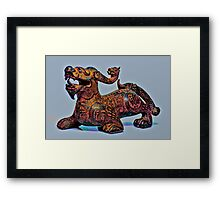 Psychedelic Dragon Framed Print