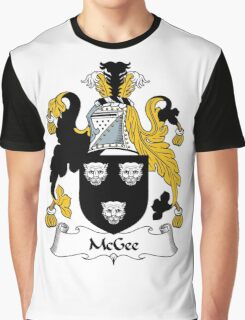 McGee Coat of Arms / McGee Family Crest Graphic T-Shirt