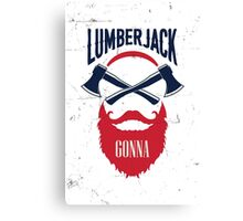 Lumber Jack Gonna Canvas Print