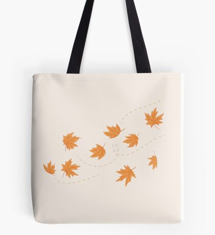 The flying autumn leaves Tote Bag