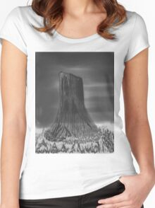 Devil's Tower, Wyoming Women's Fitted Scoop T-Shirt