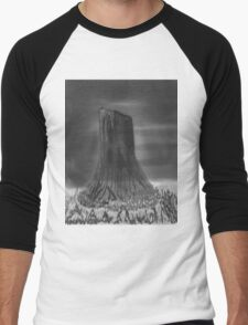 Devil's Tower, Wyoming Men's Baseball ¾ T-Shirt