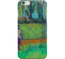 Fat Man with Dog iPhone Case/Skin
