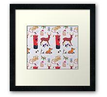 Christmasy Wildlife Framed Print