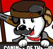 Canines of the world unite! Sticker